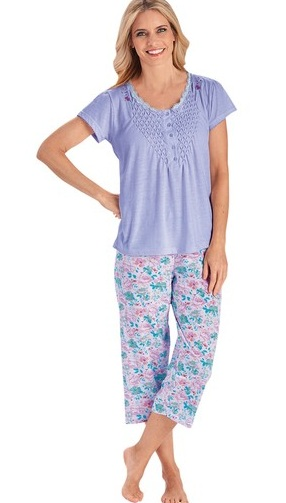 Smocked Top with Capri Pajama Set