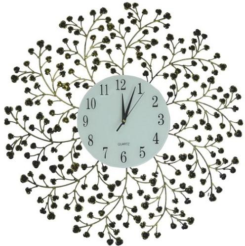 Spring Blooms Metal Wall Clock