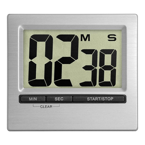 Square Silver Electronic Countdown Clocks