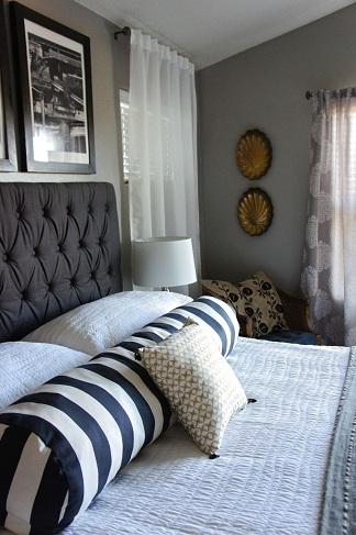 Striped Pattern Bolster Pillows