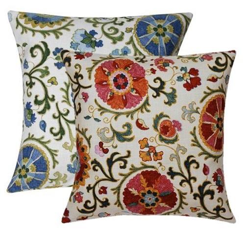 Suzani Decorative Throw Pillows