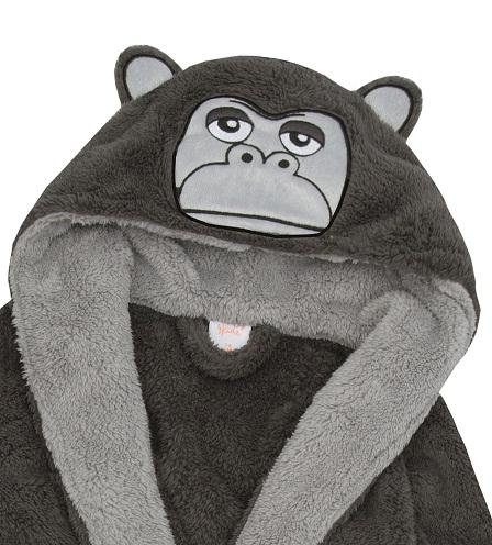 Monkey Hooded Bath Rob