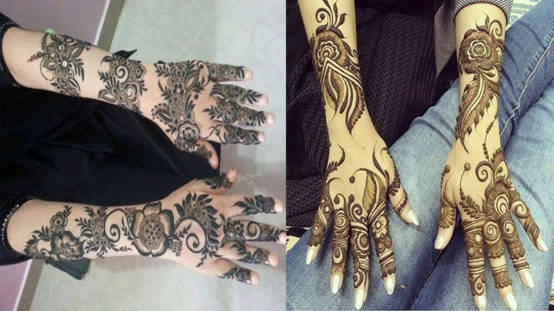 Traditional Khaleeji Mehndi Designs