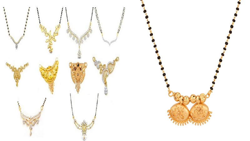 Trendy Mangalsutra Pendant Designs in Gold and Diamond