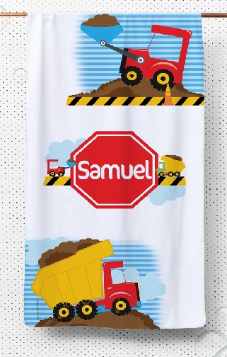 Trucks Printed Boys Kids Towels