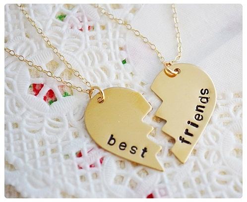 Two Piece Heart Lockets for Best Friend