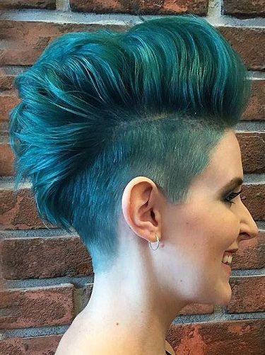 Two Toned Faux Hawk Punk Haircut