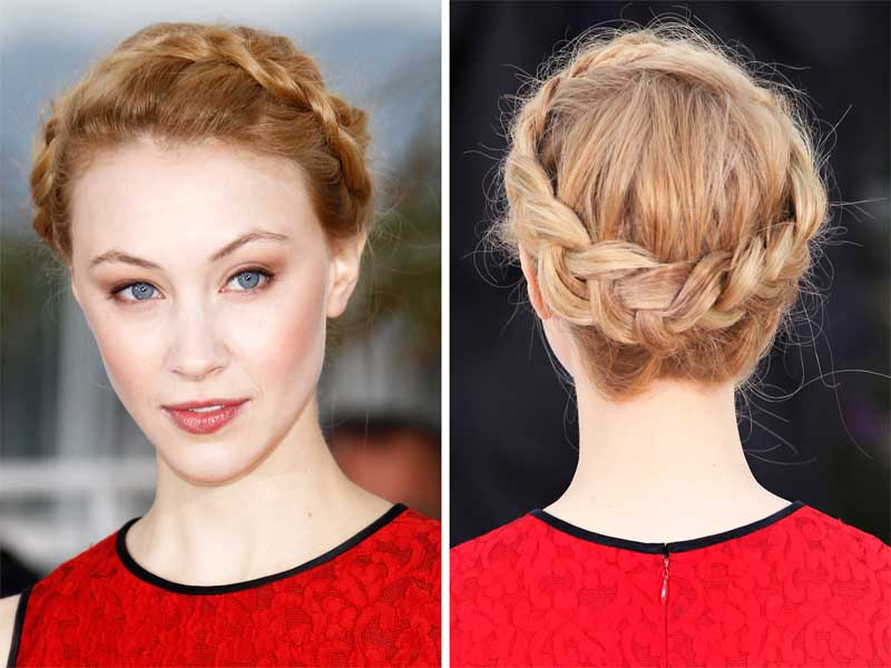 Updo hairstyles with braids