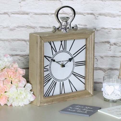 Vintage Mantel Square Desk Clocks