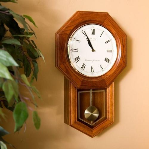 Wall Pendulum Schoolhouse Clock