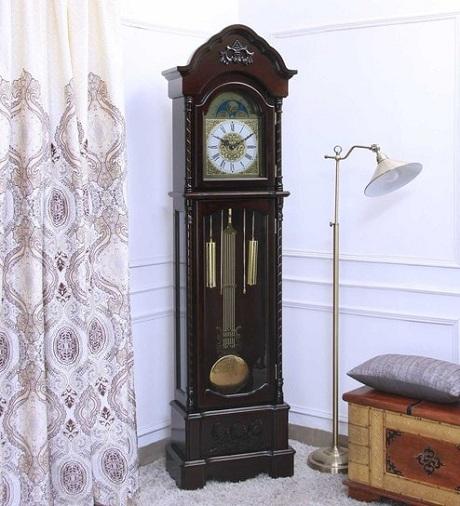 Walnut Finished Antique Grandfather Clocks