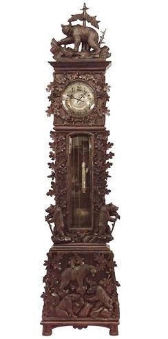 Walnut Rustic Black Forest Grandfather Clocks