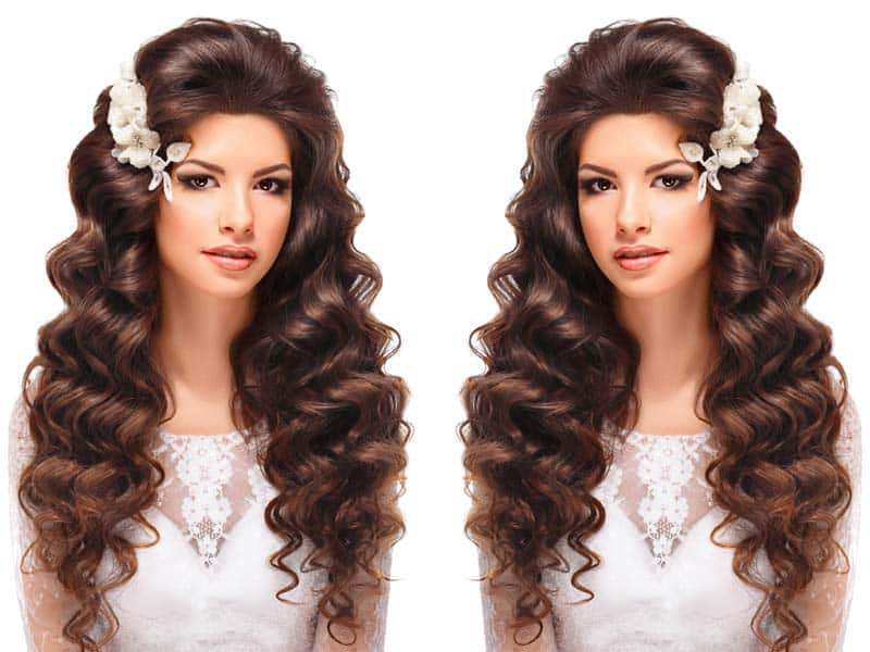 10 Latest And Stylish Wedding Hairstyles For Curly Hair Styles At Life