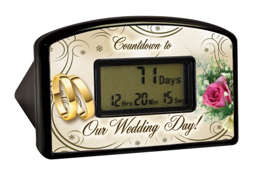Wedding Rings Embossed Wedding Countdown Clocks