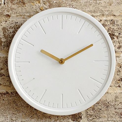 White Ceramic Modern Wall Clock