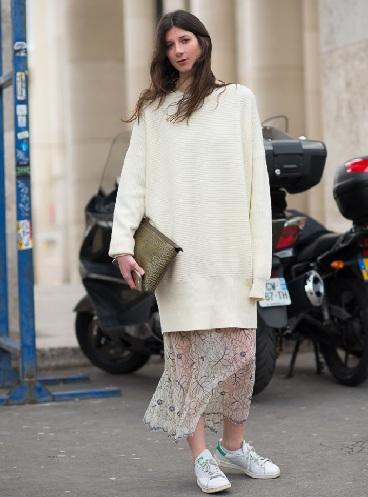 Women's Beautiful Long White Sweaters