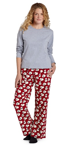 Women's Red Flannel Pajamas