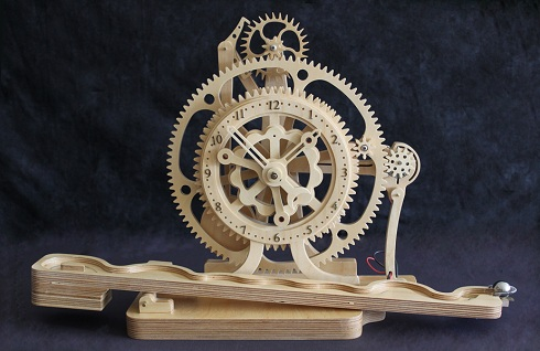 Wood Work Mechanical Clock