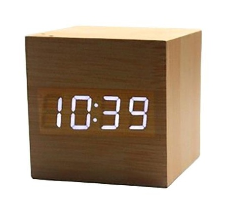 Wooden Cube Atomic Clock
