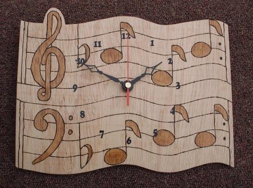 Wooden Musical Clock