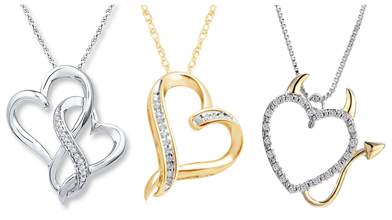 heart necklace designs