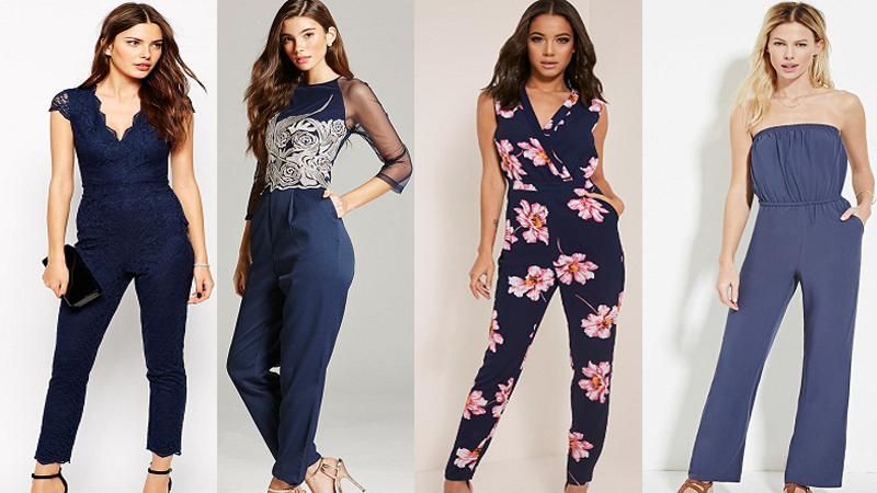 navy jumpsuits
