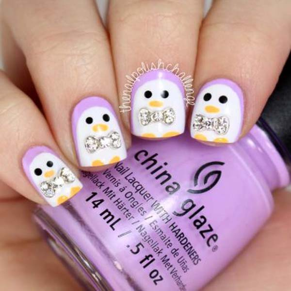 penguin nail designs