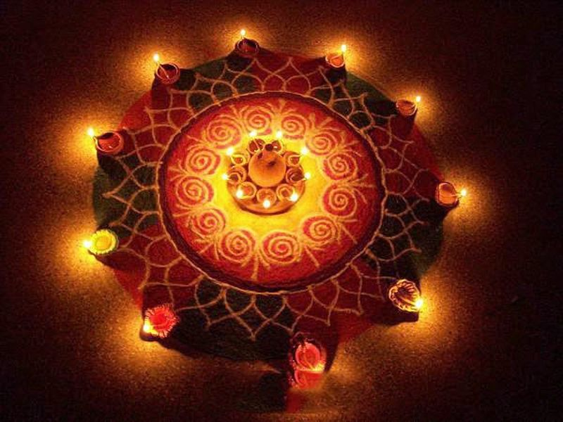 Best Diya Rangoli Designs
