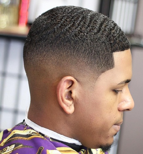 Taper Haircut Black Men Waves 65