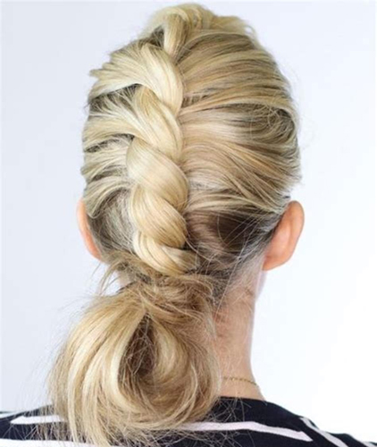 Messy Hair Updo with a twist in the Center