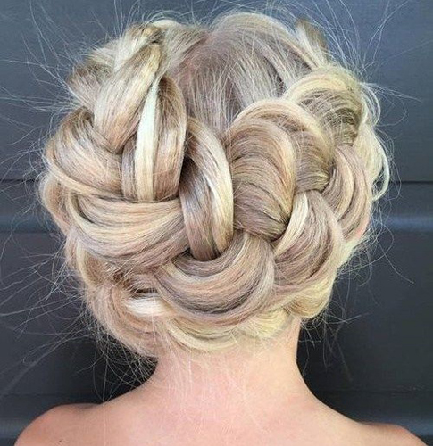Crimped and Braided Updo