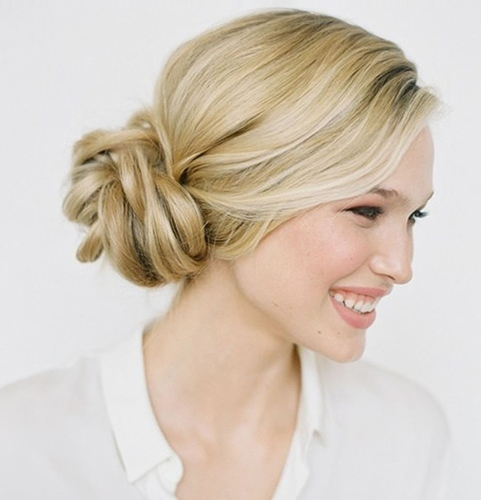 Knotted Bun Hairstyle Updo