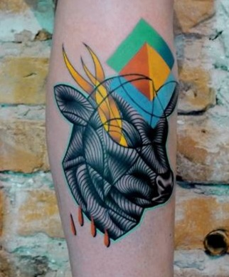 abstract animal tattoo