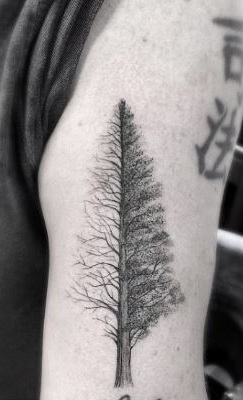 abstract tree tattoo