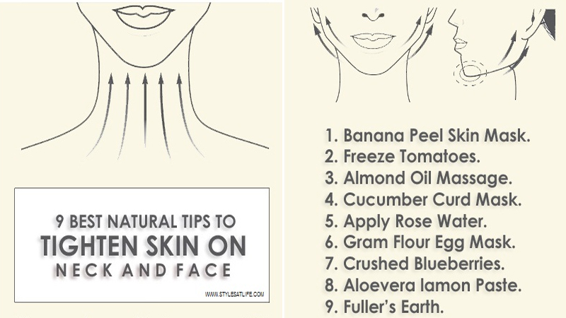 Natural Tips to Tighten Skin on Face and Neck