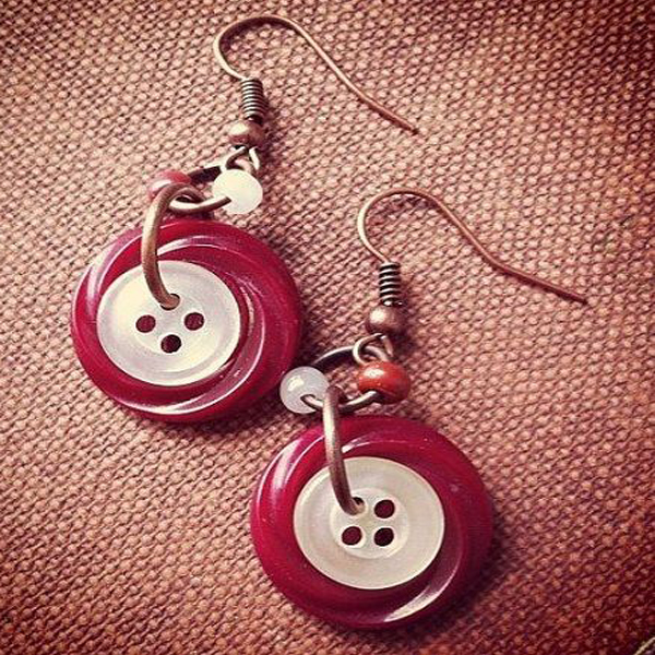 Button Earrings in Latest Designs