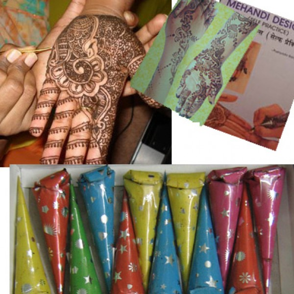 Different Types Mehndi Cones in India