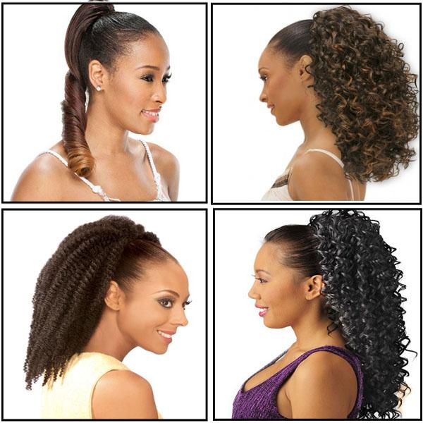Drawstring ponytails