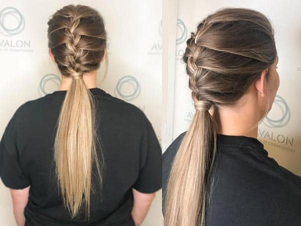 French Ponytail Hairstyles 1