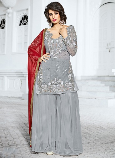 15 Dazzling Designs Of Silver Salwar Suits For Every Occasion