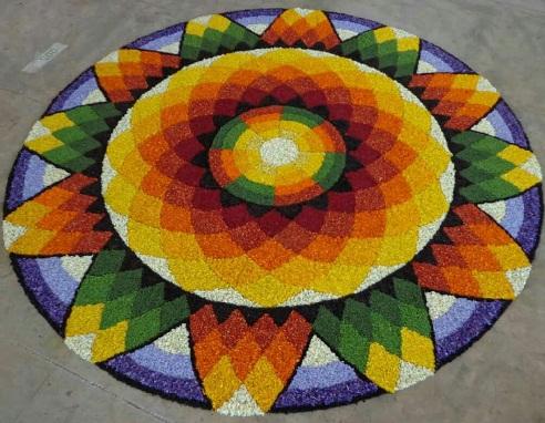 Hindu Puja 3D Rangoli Art