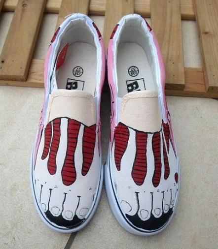 Men Painting Loafer Shoe