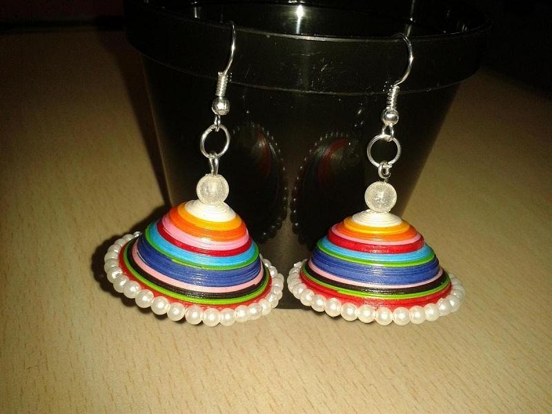 Quilling Earrings Jhumkas