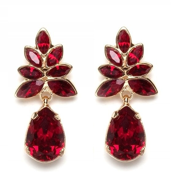 Red Earrings in Different designs