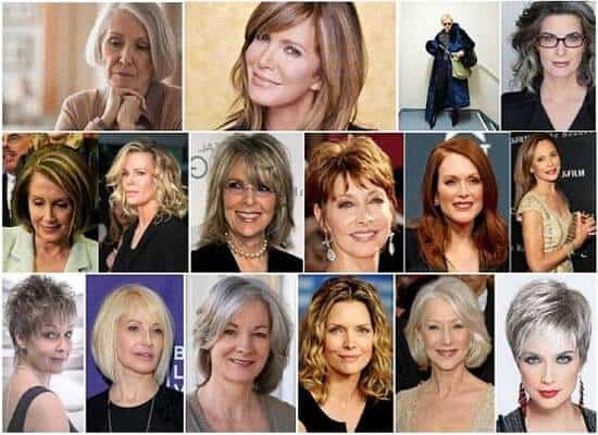 Short Haircuts for Women Over 50 Main