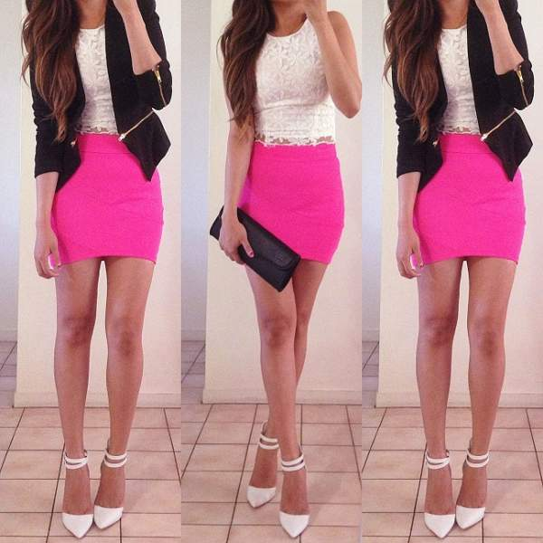 Hot Pink Skirts
