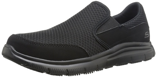 Skechers for Work Men's 77048 Flex Advantage Slip-Resistant Mcallen Slip-On