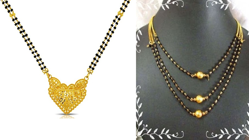 Traditional & Latest Black beads Mangalsutra Designs