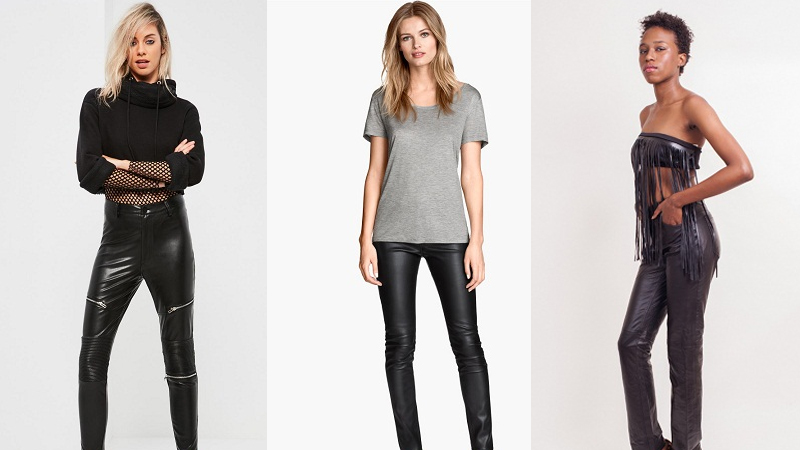 Trendy Leather Jeans For Men And Women In India