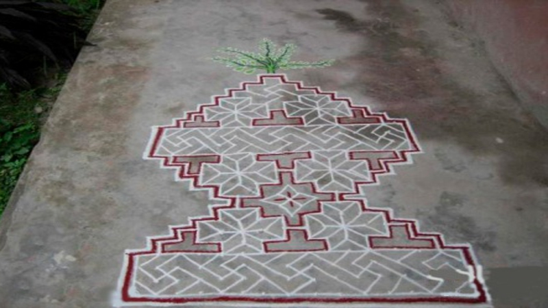 Best Tulsi Rangoli Designs